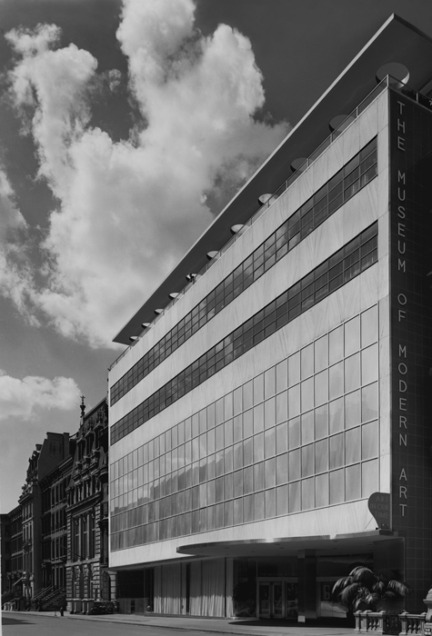 Museum of Modern Art, New York, NY. Philip L. Goodwin and Edward Durell Stone, Architects, 1939. Robert Damora, Photographer, 1939.